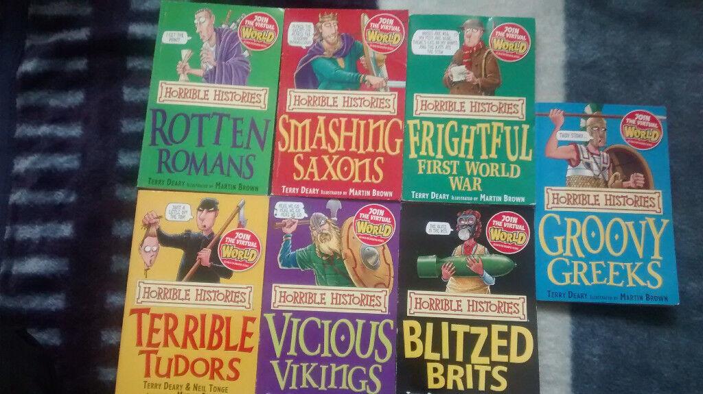 Horrible Histories - set of 7 books