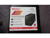 BUFFALO LS 220D NAS Storage, Personal Cloud 4TB - Brand New