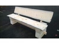 Solid wood bench seat pub bench