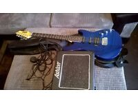 ashton electric guitar with amp