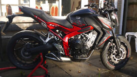 2016 CB650FA-G for sale very low miles, excellent condition