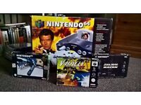 Goldeneye Edition Nintendo 64 with 3 extra boxed games