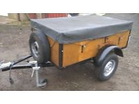 CAR TRAILER 75O KG has rain cover and removable fold down back door