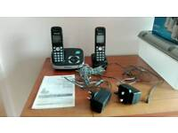 Panasonic answer phone with twin handsets