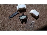 Brand New 2 Way Coaxial Cable Splitter with screws, spanner and snap-on-covers