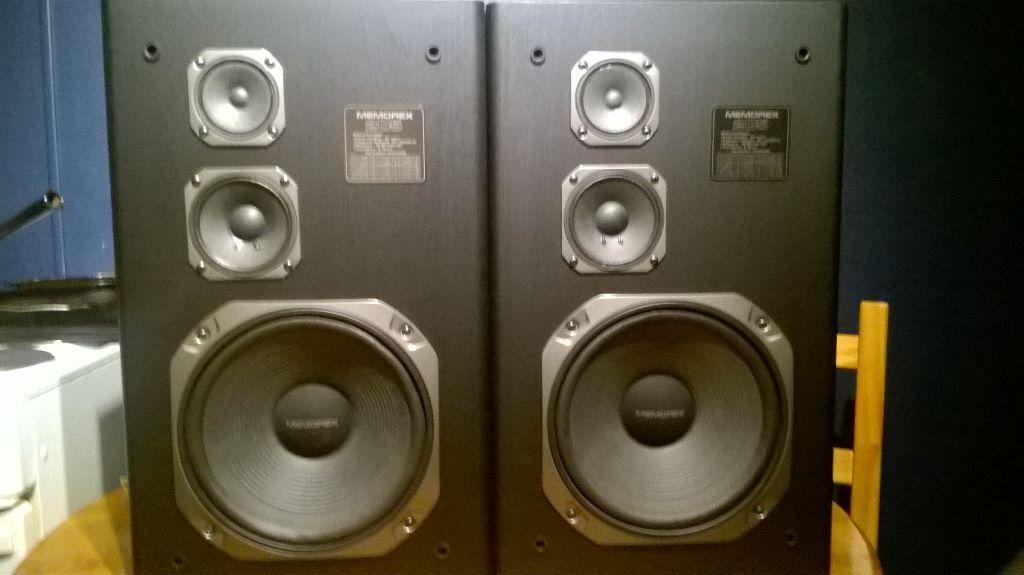Memorex 205 3 Way Vintage Floor Speakers Pair C W Covers