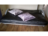 Foldable SOFA real leather. Cushions go FOR FREE. swaps accepted: iPhone, Notebook