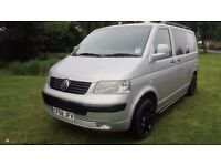 VW Transporter 1.9 T5 SWB 2008/58 Silver NO VAT Sportline spoilers, fully carpeted and insulated