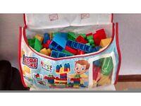 Mega Bloks First Builders. In handle carry bag.