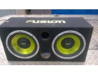 for sale: Fusion sub & amp car speaker box £60