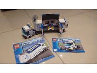 Lego City Mobile Police Unit, Tipper Truck & Cargo Truck - ID 7288, 4434 & 60020