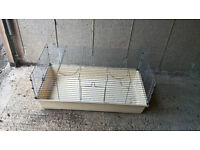 """Indoor Rabbit Cage 20"""" wide length 38"""" height 17"""" good condition"""