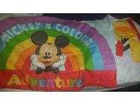 Mickey mouse single bed cover