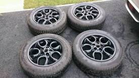 """Mini Paceman/Countryman 16"""" alloy wheels with winter tyres."""