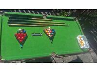 snooker/pool table..pot black.rrp £284.99. bargain less than £50