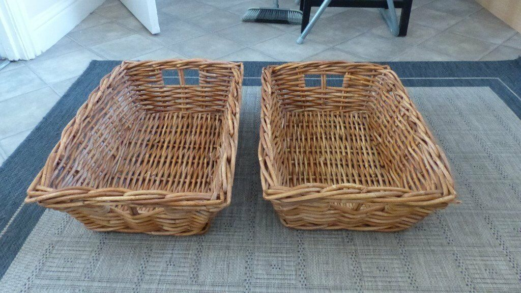 Two large Ikea Baskets Used