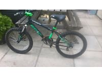 kids coyote epic mountain bike black and green age 7-10 years