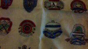 Vintage silk scarf with curling club logos West Island Greater Montréal image 2