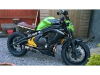 Kawasaki ER 6N Scrambler Motorbike 2013 , Custom Build Green - Take a Look!!!!