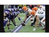 2 tix £160 Browns v Vikings NFL Twickenham
