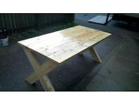 ANY HAND MADE TIMBER CHAIRS,BEDS,TV UNIT,DRESSERS,DINING/COFFEE TABLES,PATIO&GARDEN BENCH FROM £49