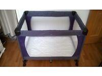 John Lewis Travel Cot with mattress enhancer. As new. £25.00. Call 01273 888628