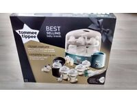 Brand new TommeeTippee steriliser, bottles, teats, bottle warmer, bottle bags, formula dispenser etc