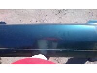 Ford Focus MK1 Saloon rear Bumper In Green-IN GOOD USED CONDITION!