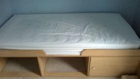 Children's single storage bed