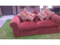 Red chunky sofa