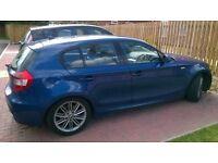 2006 56 BMW 120i m-sports le-mans blue top spec full leathers park sensors 120k full.mot £2795 px
