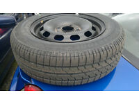 new tyre 175/65/14. new with wheel for fiesta. never been on car £20 8mm tread
