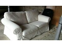 Two seater sofa. Cream and White covers included. Ikea. Excellent condition