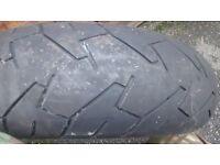 Bridgestone BT57 180 55 17 tyre needs repair