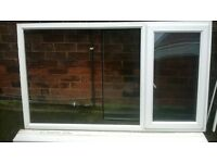white upvc double glazed window with one side opener