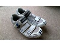 Shimano cycling shoes with pedal cleats
