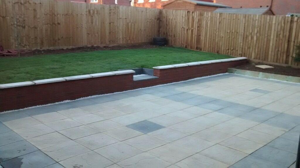 Gardens sorted slabs decking fences walls trees cut for Garden decking gumtree