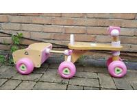 Wooden Trike With Trailer