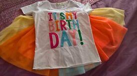 Girls Happy Birthday Tutu age 5-6