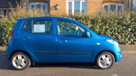 5 door alloys 10 plate Hyundai i10 colbort blue