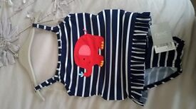 NEW 2 Piece swimming suit with label