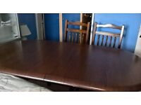 table &chairs &side board