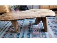 Paul Hodgkiss Design Burr Elm & Oak Vintage Coffee Table