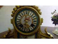 ORMOLOU SPELTER GILT FRENCH MANTLE CLOCK