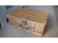 Wicker Picnic Basket with Cutlery