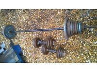 barbell dumbbell cast iron weights set 70 kg