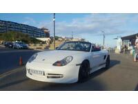 ***CARRERA WHITE Porsche Boxster 986 **Private plate Included J500XTR **