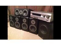 Magnat Vector home cinema speaker system with yamaha amplifier