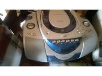 Goodmans portable radio, cd and tape player