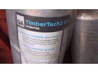 2 x wooden floor insulation roll